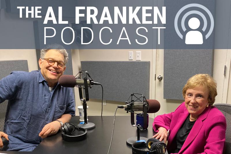 Al Franken and Elizabeth Drew