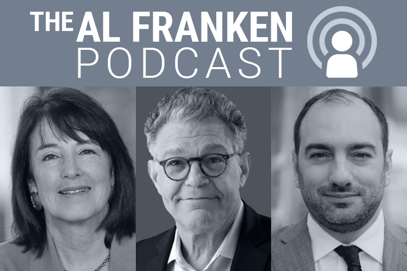 Nancy Gertner, Al Franken and Max Bergmann