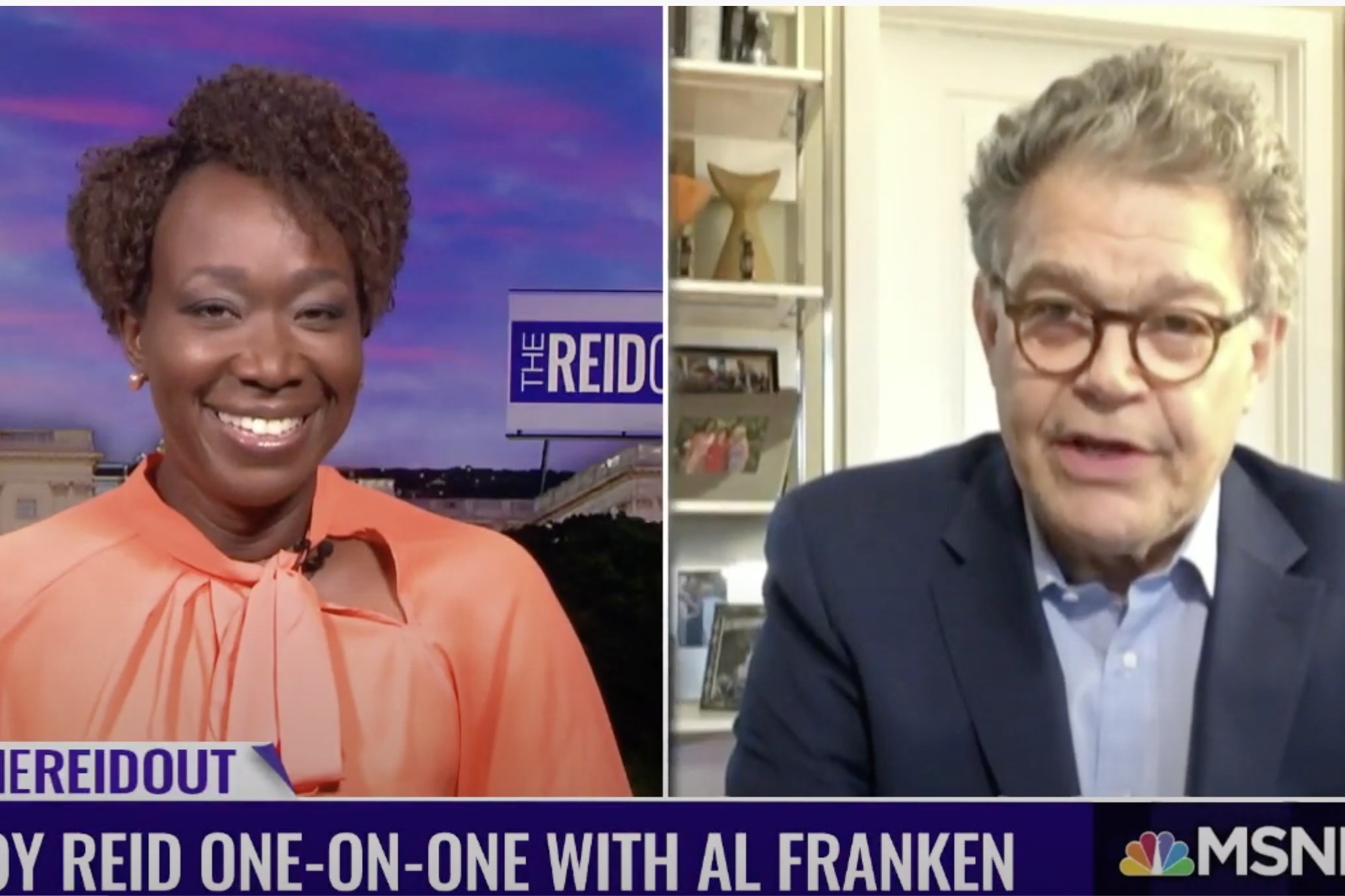 Joy Reid and Al Franken
