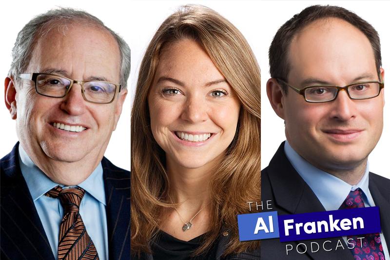 Norm Ornstein, Natasha Bertrand and Franklin Foer